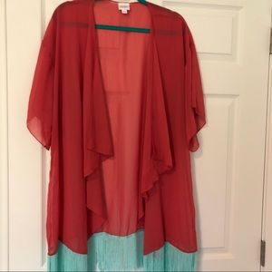 Lularoe Monroe kimono. Size L